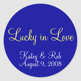 Lucky in Love Classic Round Sticker