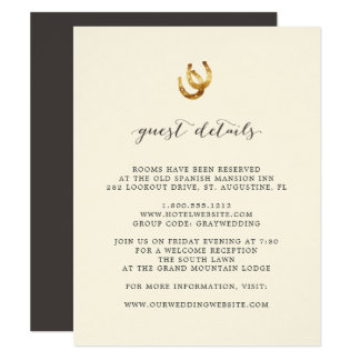Lucky in Love | Guest Details Card