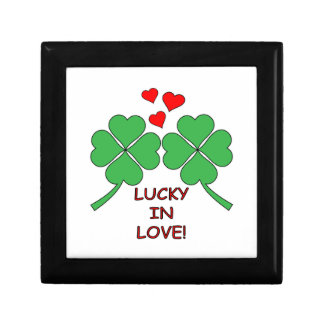 Lucky In Love Hearts Clover Gift Box