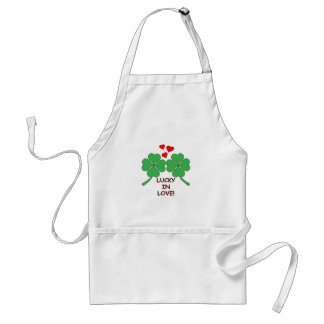 Lucky In Love Hearts Clover Standard Apron