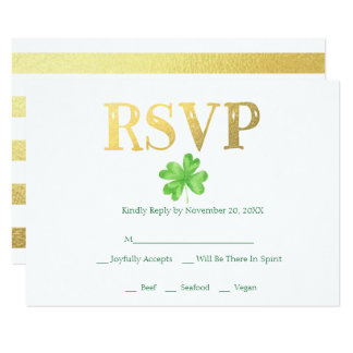 Lucky in Love | Irish Wedding RSVP Card