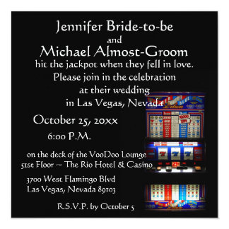 Lucky in Love Las Vegas Casino Wedding Card