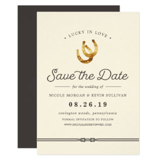 Lucky in Love | Save the Date Card