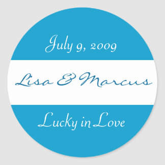 """Lucky in Love"" Wedding Sticker"