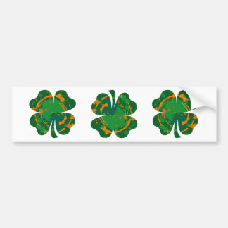 Lucky Ink Clover bumper sticker