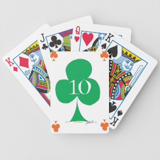 Lucky Irish 10 of Clubs, tony fernandes Bicycle Playing Cards