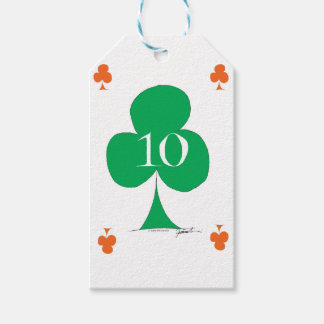 Lucky Irish 10 of Clubs, tony fernandes Gift Tags