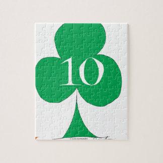 Lucky Irish 10 of Clubs, tony fernandes Jigsaw Puzzle