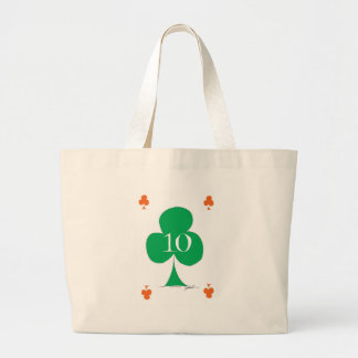 Lucky Irish 10 of Clubs, tony fernandes Large Tote Bag
