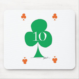 Lucky Irish 10 of Clubs, tony fernandes Mouse Pad