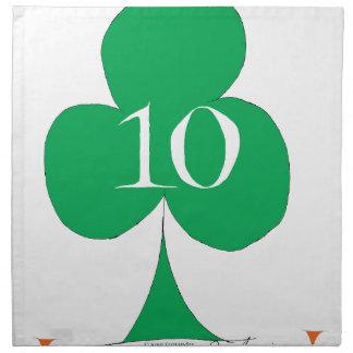 Lucky Irish 10 of Clubs, tony fernandes Napkin