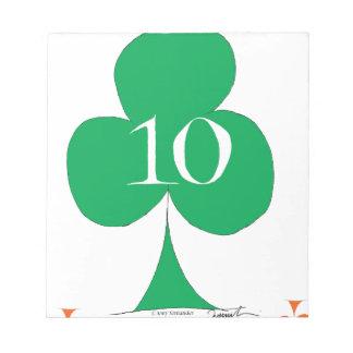 Lucky Irish 10 of Clubs, tony fernandes Notepad