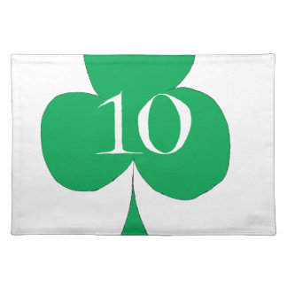 Lucky Irish 10 of Clubs, tony fernandes Placemat