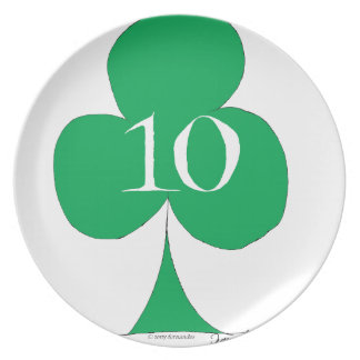 Lucky Irish 10 of Clubs, tony fernandes Plate