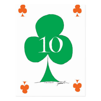 Lucky Irish 10 of Clubs, tony fernandes Postcard