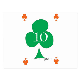 Lucky Irish 10 of Clubs, tony fernandes Postcard