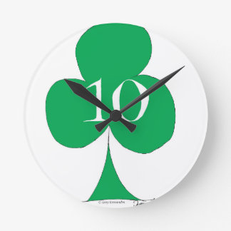 Lucky Irish 10 of Clubs, tony fernandes Round Clock