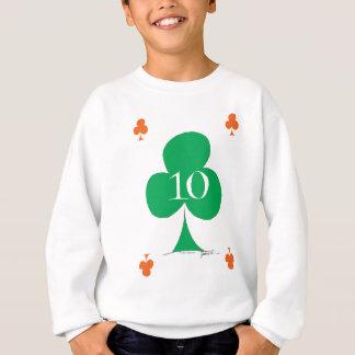 Lucky Irish 10 of Clubs, tony fernandes Sweatshirt