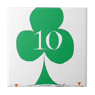 Lucky Irish 10 of Clubs, tony fernandes Tiles