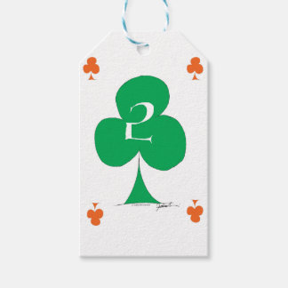 Lucky Irish 2 of Clubs, tony fernandes Gift Tags