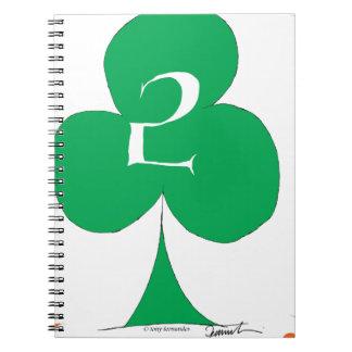 Lucky Irish 2 of Clubs, tony fernandes Notebook