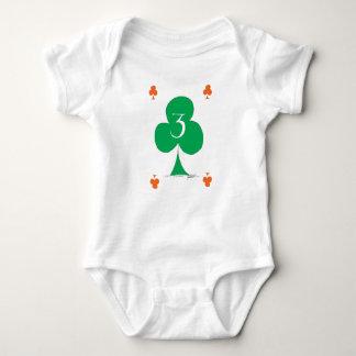 Lucky Irish 3 of Clubs, tony fernandes Baby Bodysuit