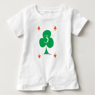 Lucky Irish 3 of Clubs, tony fernandes Baby Romper