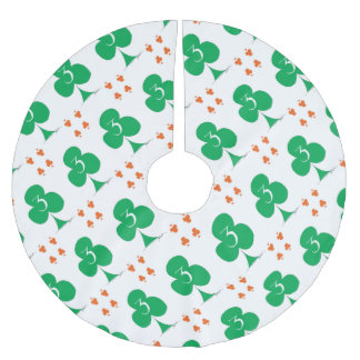 Lucky Irish 3 of Clubs, tony fernandes Brushed Polyester Tree Skirt