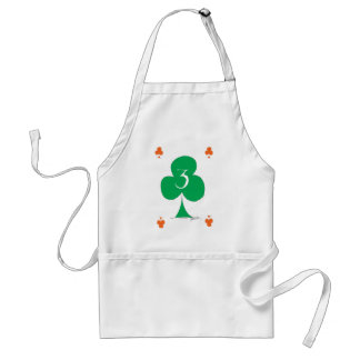 Lucky Irish 3 of Clubs, tony fernandes Standard Apron