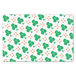 Lucky Irish 3 of Clubs, tony fernandes Tissue Paper