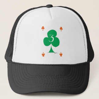 Lucky Irish 3 of Clubs, tony fernandes Trucker Hat