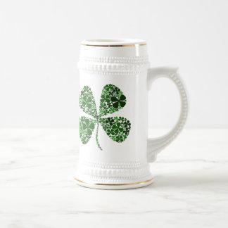 Lucky Irish 4-leaf Clover Beer Stein