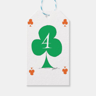 Lucky Irish 4 of Clubs, tony fernandes Gift Tags