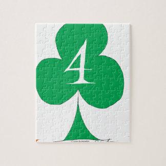 Lucky Irish 4 of Clubs, tony fernandes Jigsaw Puzzle