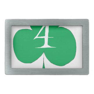 Lucky Irish 4 of Clubs, tony fernandes Rectangular Belt Buckle