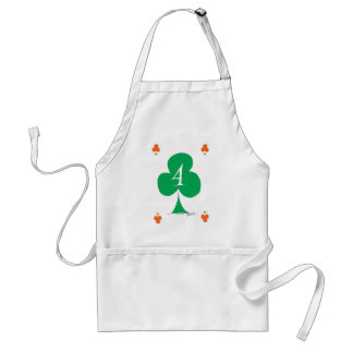 Lucky Irish 4 of Clubs, tony fernandes Standard Apron