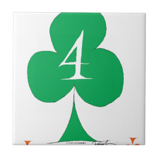 Lucky Irish 4 of Clubs, tony fernandes Tile