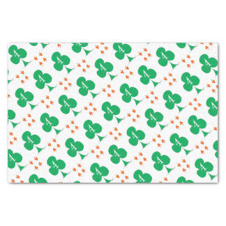 Lucky Irish 4 of Clubs, tony fernandes Tissue Paper