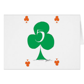 Lucky Irish 5 of Clubs, tony fernandes Card