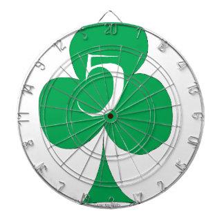 Lucky Irish 5 of Clubs, tony fernandes Dartboard