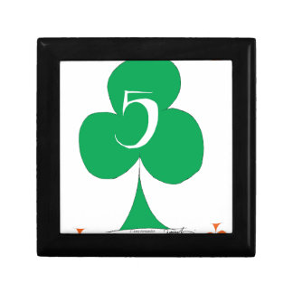 Lucky Irish 5 of Clubs, tony fernandes Gift Box
