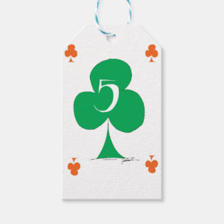 Lucky Irish 5 of Clubs, tony fernandes Gift Tags