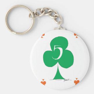 Lucky Irish 5 of Clubs, tony fernandes Keychain