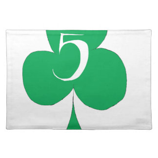 Lucky Irish 5 of Clubs, tony fernandes Placemat