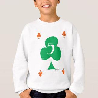 Lucky Irish 5 of Clubs, tony fernandes Sweatshirt
