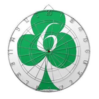 Lucky Irish 6 of Clubs, tony fernandes Dartboard
