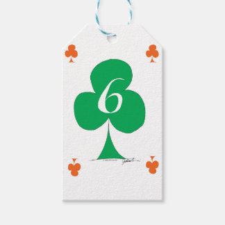 Lucky Irish 6 of Clubs, tony fernandes Gift Tags
