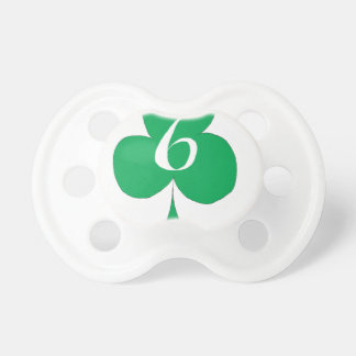 Lucky Irish 6 of Clubs, tony fernandes Pacifier