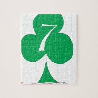 Lucky Irish 7 of Clubs, tony fernandes Jigsaw Puzzle