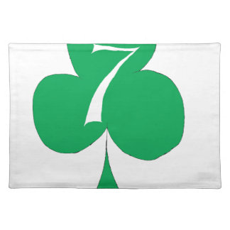 Lucky Irish 7 of Clubs, tony fernandes Placemat